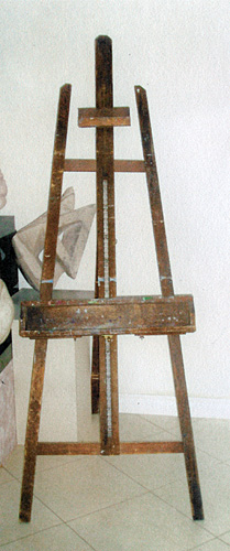 photo of easel